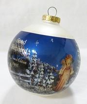 Vintage hummel glass ball ornament good shepherd 1991 - $11.88