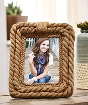 "10.75""  Rope Nautical Design Photo Picture Frame Holds 5"" x 7"" - $34.64"