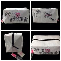 Victoria's Secret PINK Cosmetic Makeup Zipper Bag Travel Case & Marker HTF RARE - $49.45