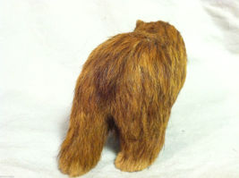 Wild Brown Grizzly Bear Animal Figurine - recycled rabbit fur image 6