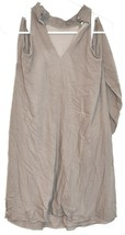 Charlotte Russe Women's Taupe Gray Cold Shoulder Long Sleeve Mini Dress Size S image 2