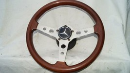 1977 Mercedes W123 R107 W107 Grant Wood Steering + Hub image 1