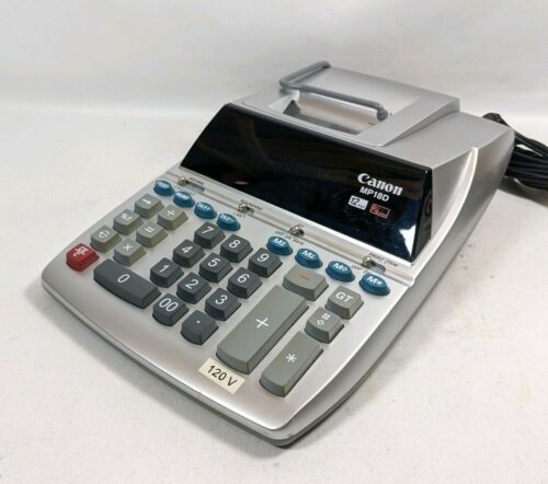 Canon MP18D   12 Digit 2 Color Adding Machine 1 Roll Paper (ws1/mer)  - $39.99