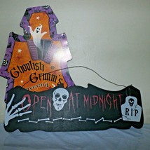 Lot of 2 Halloween Tin & Wood Hanging Sign Ghoulish Grimm's RIP Preowned  - $8.90