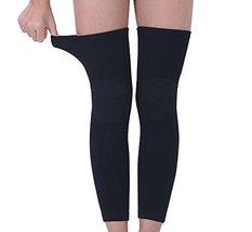 Elastic Lengthen Knee Brace Sports Joint Brace Thick Leg Warmer, Black - $14.08