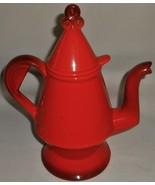 Metlox Poppytrail RED ROOSTER PATTERN Five Cup COFFEE POT w/LID California - $49.49