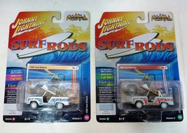 Lot of 2 Johnny Lightning 1966 Ford Bronco Surf Rods Version A and B  - $18.90