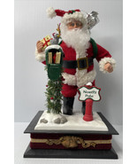 Musical Santa Claus w/Mail Box, At the North Pole! Musical & Illuminated... - $18.76