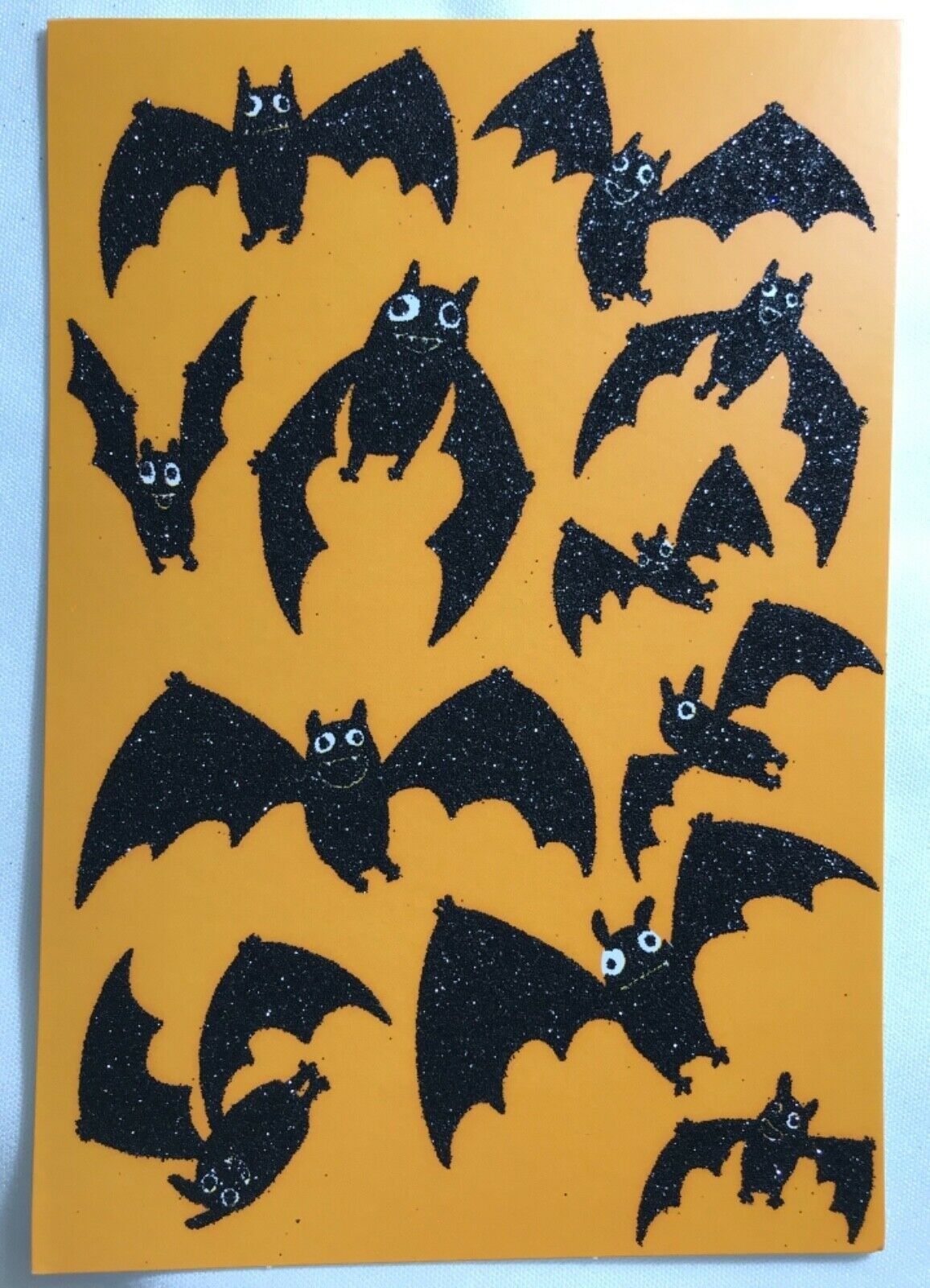 Primary image for Halloween Card 2019 with Black Glitter Bats