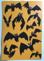 Halloween Card 2019 with Black Glitter Bats - $6.93