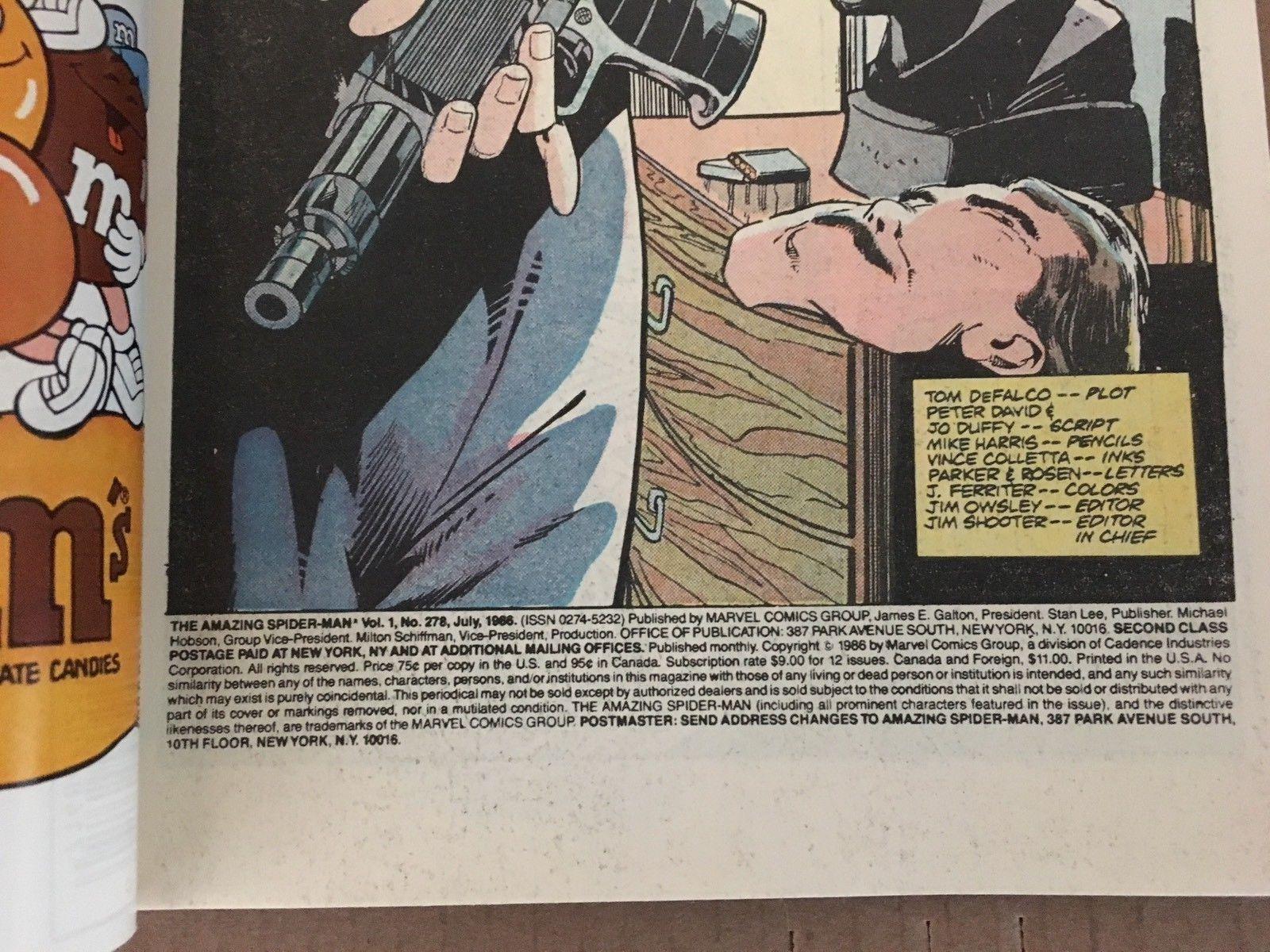Amazing Spider-Man #278 Marvel Comic Book VF (8.0) Condition 1986 Hobgoblin