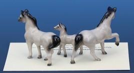 Hagen Renaker Miniature Horse Tiny Gray Family Mare Stallion Colt 3 Piece Set image 2