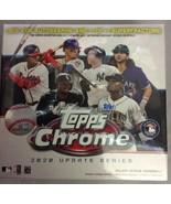 Topps MLB Chrome 2020 Update Series Baseball Trading Card Mega Box 28 To... - $49.99