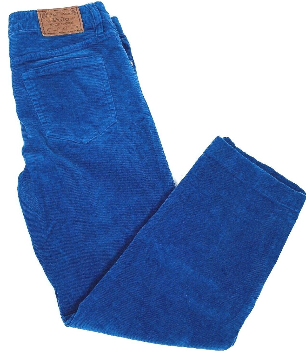 "Polo Ralph Lauren Corduroy Girls size 20 (30"" X 24"") Blue Corduroy Straight Fit - $21.00"