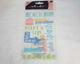 EK Success Glitter Classic Stickers, Beach - $5.42