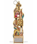 Religious Wall Decor Home Blessing Plaque Orthodox Icons Blessed in Jeru... - $37.23