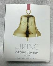 NEW GEORG JENSEN Living Christmas 2015 Bell Ornament  Denmark 24 k Gold ... - $29.69
