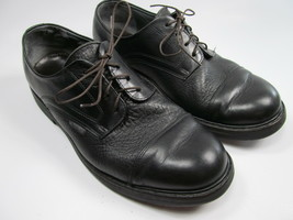 MEPHISTO MENS 8.5 GOODYEAR WELT PEBBLED LEATHER  CAPPED TOES LACED BLACK... - $28.71