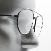 Reading Glasses Mini Aviator Matte Black Metal Frame +3.00 Lens Strength - $18.00
