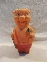 Vintage 1950/60's Walt Disney Three Little Pigs Wood & Saw Rubber Squeak... - $19.95