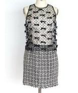 Chanel 2010 Runway Fall Winter Black White Tweed Silk Bow Tie Dress Size 38 - $1,999.00
