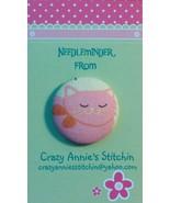 Cat Pink Needleminder fabric cross stitch needle accessory - $7.00