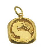 SALE Mortal Kombat 24K Gold Plated solid Sterling Silver Charm Pendant M... - $28.52