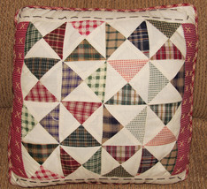 "12""  PRIMITIVE AMERICANA  FARMHOUSE ANTIQUE STYLE  QUILTED PILLOW - $12.38"