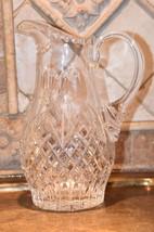 Heavy Crystal Diamond Thumbprint Cut Glass Water Juice Beverage Serving ... - $69.99
