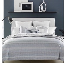 Hotel Collection Engineered Dots King Duvet Cover 400 TC Cotton Blue Nwop - $80.99