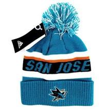 NWT New Adidas San Jose Sharks NHL Winter Hat Beanie Mens Womens - $34.99