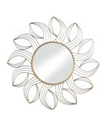 Golden Petals Wall Mirror Contemporary Flower Design - $43.95
