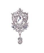 Lot of 3 Rhinestone Crystal Dangle Chandelier Wedding Brooch Pin Bridal ... - $9.49