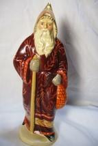 Vaillancourt Folk Art Maroon Father Christmas signed by Judi Vaillancourt - $219.99