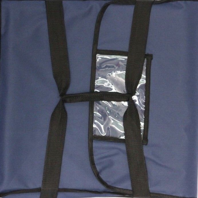 "Nylon Insulated Pizza Delivery Bag Size 20"" x 20"" x 12"" Blue"