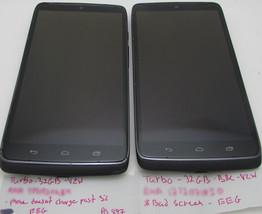 Lot of 2 Motorola Droid Turbo - 32GB - Black Nylon (Verizon) Smartphone ... - $174.99