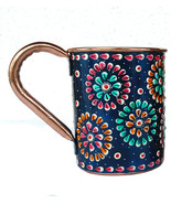 Mug Outer Hand Painted Art Work Wine,Vodka,Beer,Cocktail,Juice Cup Pure ... - $25.70