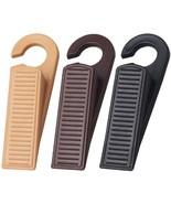 Door Wedges, Rubber Hook Door Stopper Holds Doors Open and Prevent The L... - $15.49