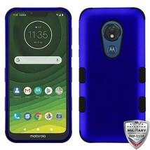 For MOTOROLA Moto G7 Power Titanium Blue/Black TUFF Hybrid Phone Case Cover - $13.39