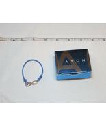 Donne Ragazze Avon Potenziamento Bracciale Piccolo Blu F3216611 Nip - $13.36