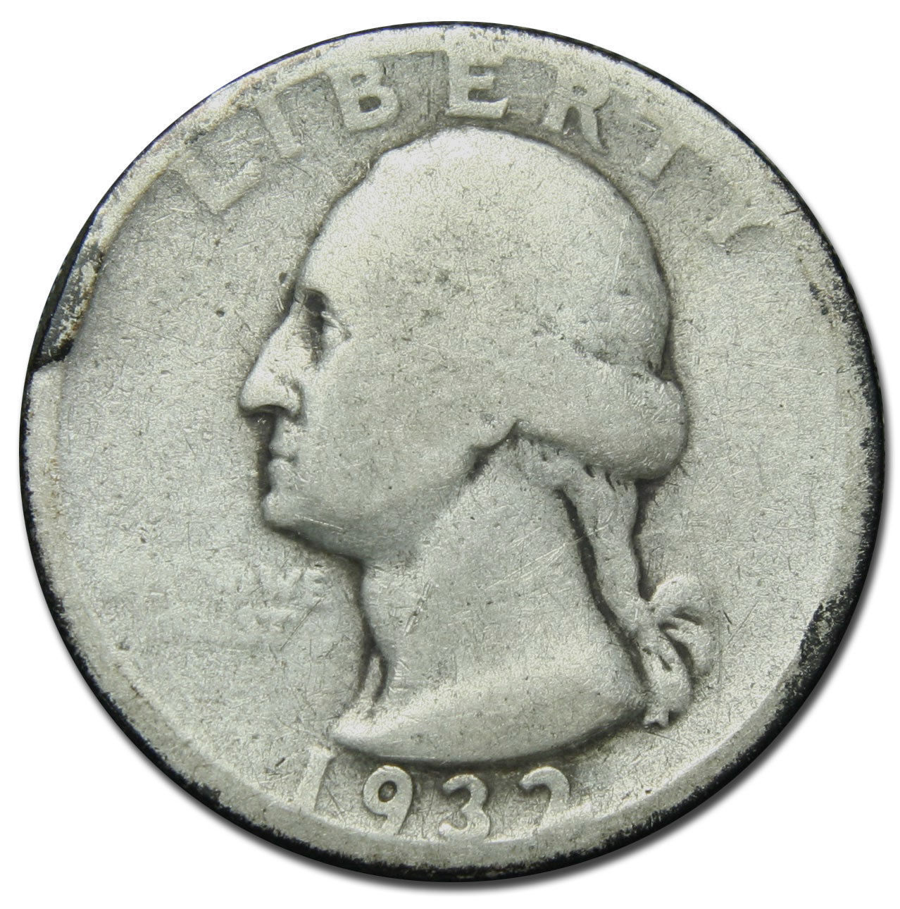 1932D George Washington Quarter 90% Silver Coin Lot# MZ 2801