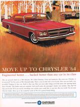 Vintage 1964 Magazine Ad Chrysler Crisp & Handsome Warranted For Five Years - $5.93