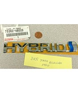 NEW Genuine TOYOTA Highlander 75362-48020 Fender HYBRID Chrome Emblem Ba... - $21.95