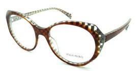 Alain Mikli Rx Eyeglasses Frames A03075 007 53-18-140 Havana / Silver Checkered - $103.41
