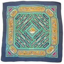 HERMES Slate Blue Qalamdan Catherine Baschet Silk Scarf  - $227.69