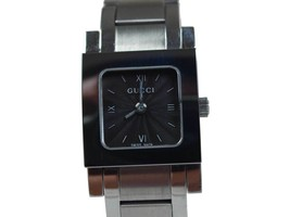 Auth GUCCI 7900P Black Dial Stainless Steel Quartz Women's Watch GW1568 - $229.00