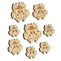 Ladybug Drawing Wood Buttons for Sewing Knitting Crochet DIY Craft - Medium 1.00 - $9.99