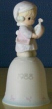 1988 Time To Wish You A Merry Christmas Precious Moments Bell 115304 - $9.75