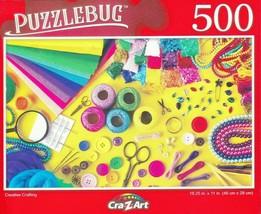 Puzzlebug 500 Piece Jigsaw Puzzle Creative Crafting - Sewing, Felting, B... - $8.88