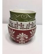 Starbucks 2010 New Bone China Set of 3 Nesting Tea Cups Mugs  8 oz EUC - $23.74